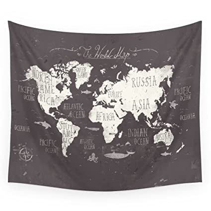 Amazon society6 the world map wall tapestry small 51 x 60 society6 the world map wall tapestry small 51quot gumiabroncs