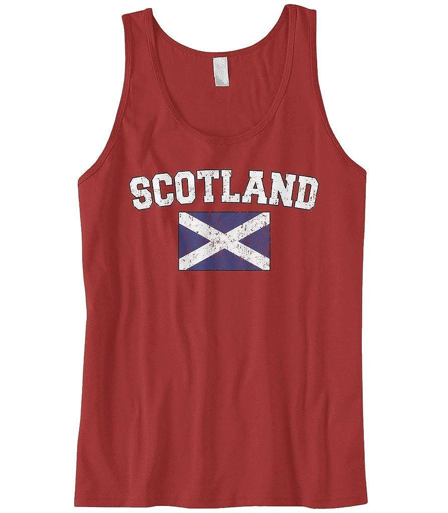 Cybertela Men's Faded Distressed Scotland Flag Tank Top 0333_MENTANK