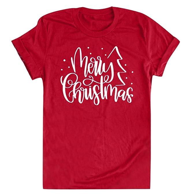 Amazon.com: Eoeth - Camisas de Navidad con impresión de ...