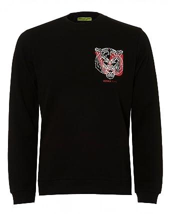 9ef9da16dd1 Versace Jeans - Sweat-Shirt - Homme Noir Noir - Noir - Large  Amazon ...