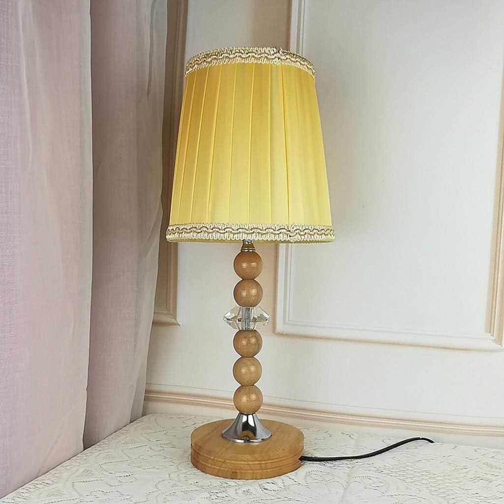 SED Lámpara de mesa, lámpara de escritorio, madera maciza ...