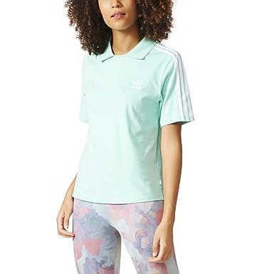 a4ba415d Adidas Originals Polo Women's Shortsleeve T-Shirt Easy Green/White bj8202  (Size XS