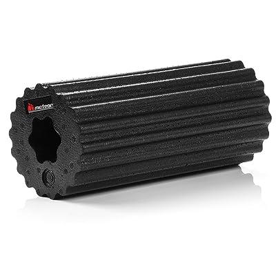 METEOR® Black Series fascia–Même Rouleau de massage de avec double effet sur la santé, en elgant Noir, deux Grade de dureté