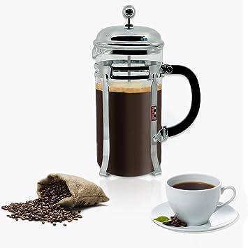 PengXiang - Cafetera de prensa francesa, Espresso & Tea Makerwith de acero inoxidable de grado