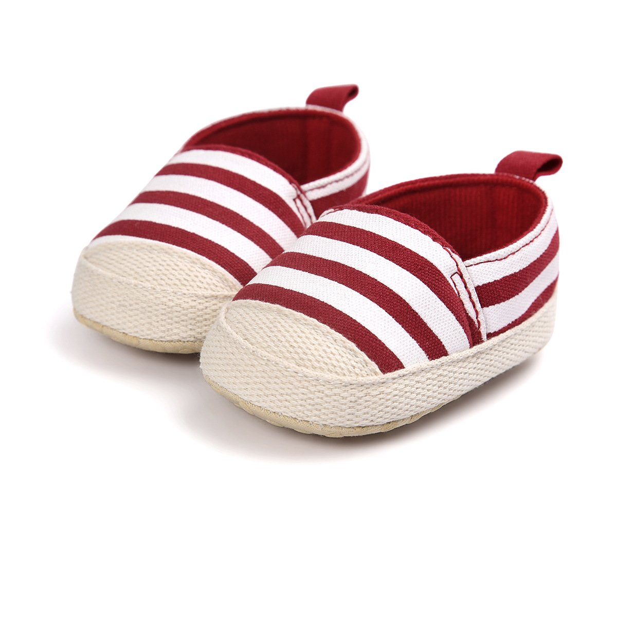 Bebe Bautizo Cuna Suela Blanda Zapatos Recien Nacido Chickwin Primeros Pasos Raya Ni/ño y Ni/ña Antideslizante Zapatillas