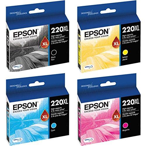 Epson 220XL Black/Color Combo 4 Pack T220XL120 , T220XL220 ,