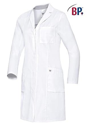 BP 1754-130-0021-18n - Bata de médico para mujeres de manga larga, sistema de elevación de brazo 205,00 g/m2, algodón puro, color blanco 18n: Amazon.es: Industria, empresas y ciencia