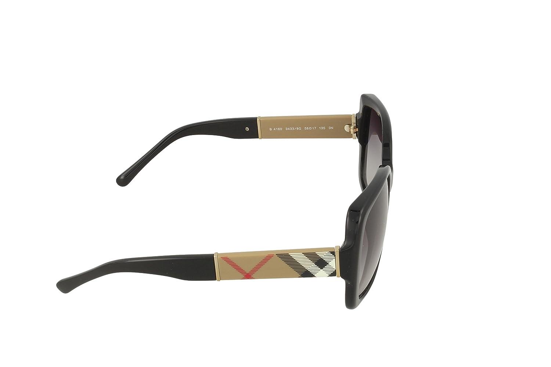 Negro Gafas De Sol Burberry Be4160f Asian Fit Oversized