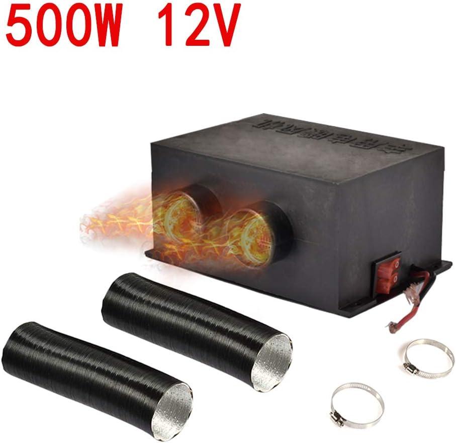 Calentador de Coche portátil 12V/24V 500W Coche Calentador De Camión Calefactor Doble Agujero Calefacción Ventilador Ventana Desempañador,Calentamiento rápido,descongelación rápida