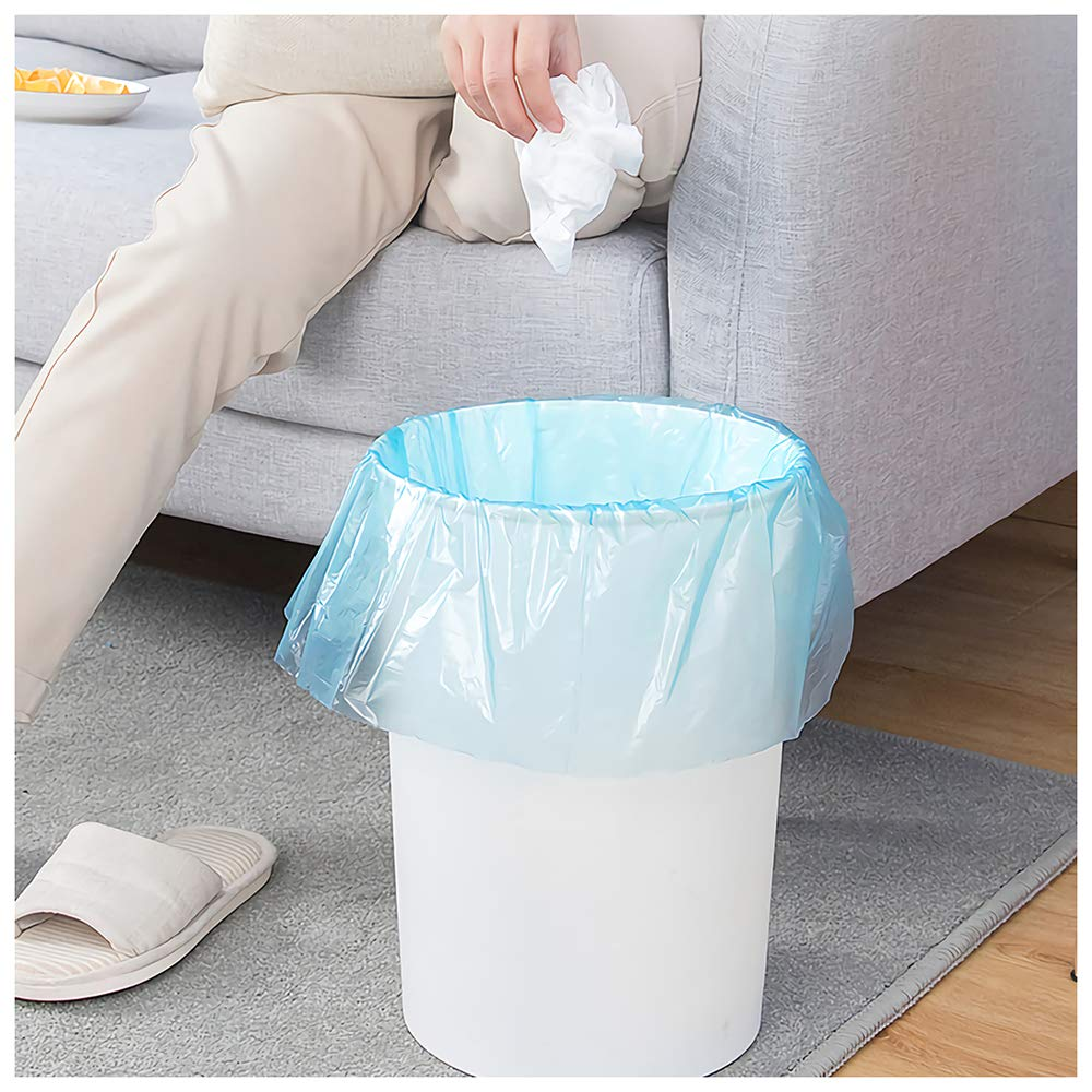 Home,Kitchen, Car Waste Bin 120 Count /• 6 Colors Small Trash Bags LEYME 4 Gallon Thicken Garbage Bags Thin Material Small Size 15-Liters for Office