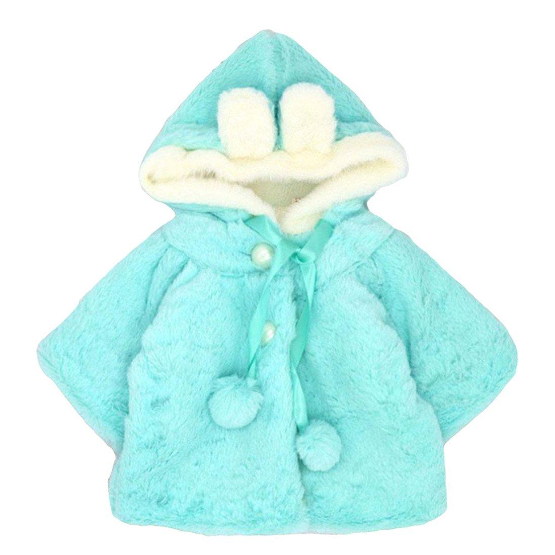 Sanwood® Newborn Infant Baby Girl Faux Fur Warm Winter Hooded Cape Cloak Hoodie Coat Generic