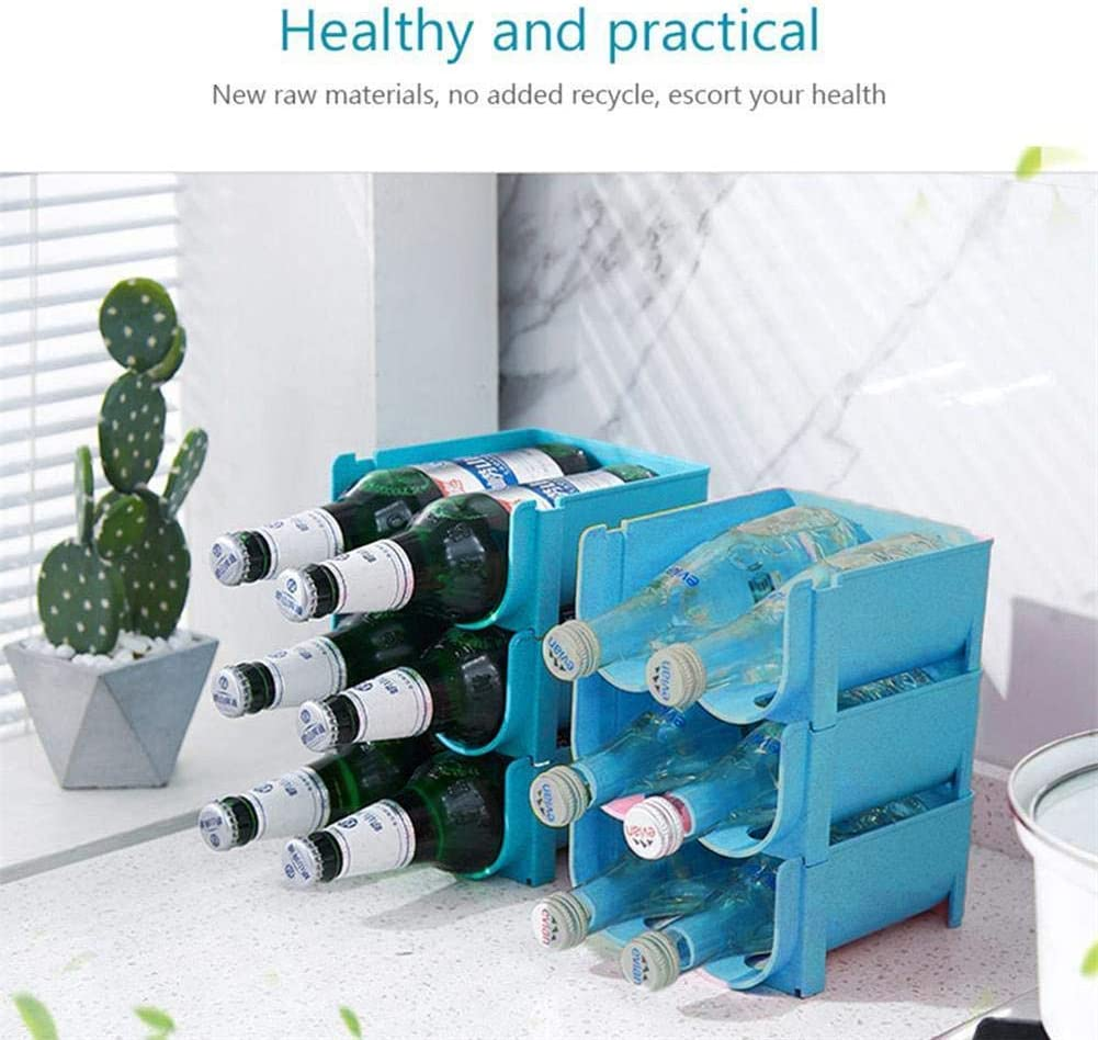 refrigerador botella de agua de pl/ástico independiente y organizador de almacenamiento de estante de vino para mesa encimeras de cocina Estante de almacenamiento de cerveza antica/ída despensa