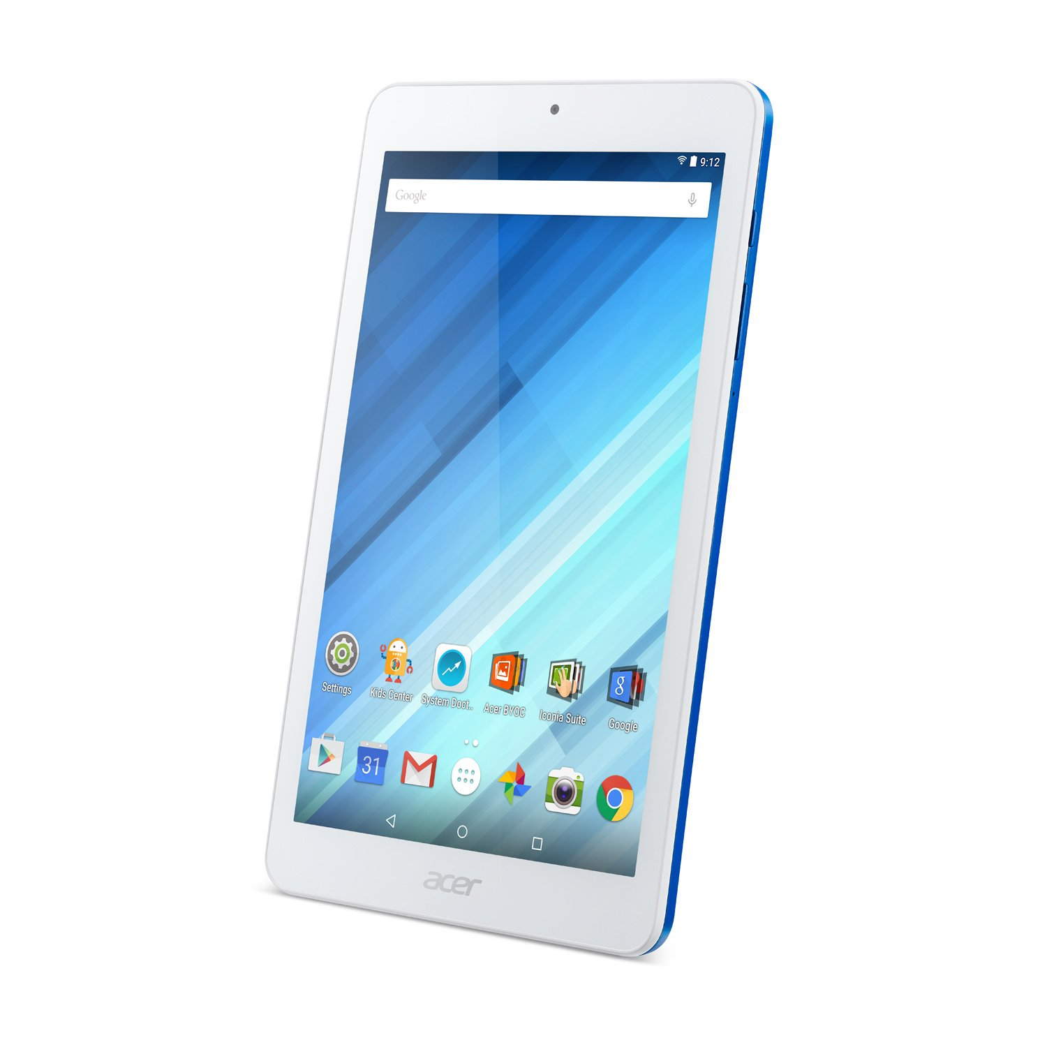 Acer NT.LC4AA.001;B1-850-K1KK Iconia MT8163 1.3GHz 1GB 16GB Abgn BT 2Xwc 8'' WXGA MT Android 5.1 Tablet, Blue by Acer