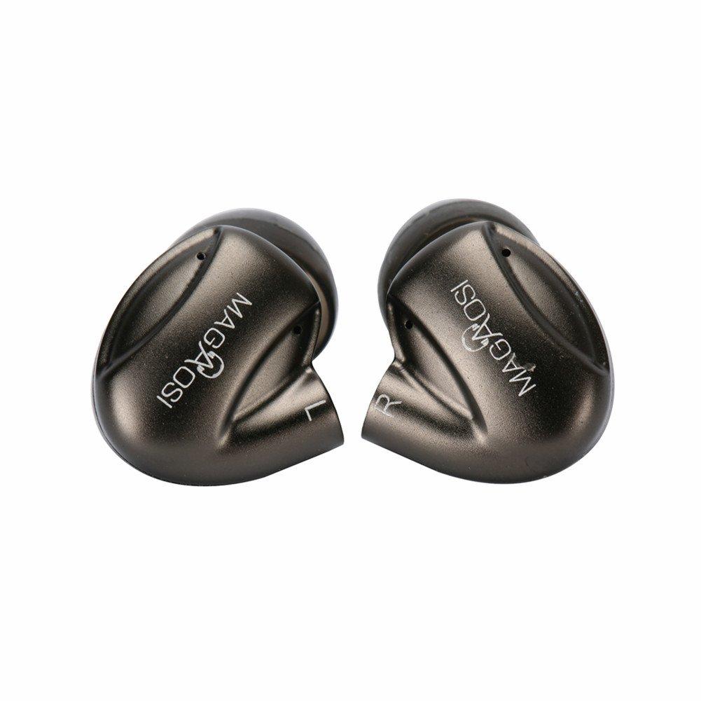 HiLisening Hybrid Triple Driver 3-way In-Ear Headset Sports Earphones Shaped to Fit Any Ear (Dark Grey)
