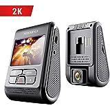 VIOFO Dash Cam 2K A119 V2 2560x1440P Super Clear Car Dash Camera 160 Degree Wide Angle Hidden Design GPS Logger Included, G-Sensor, Motion Detection, Parking Mode, Loop Recording, WDR