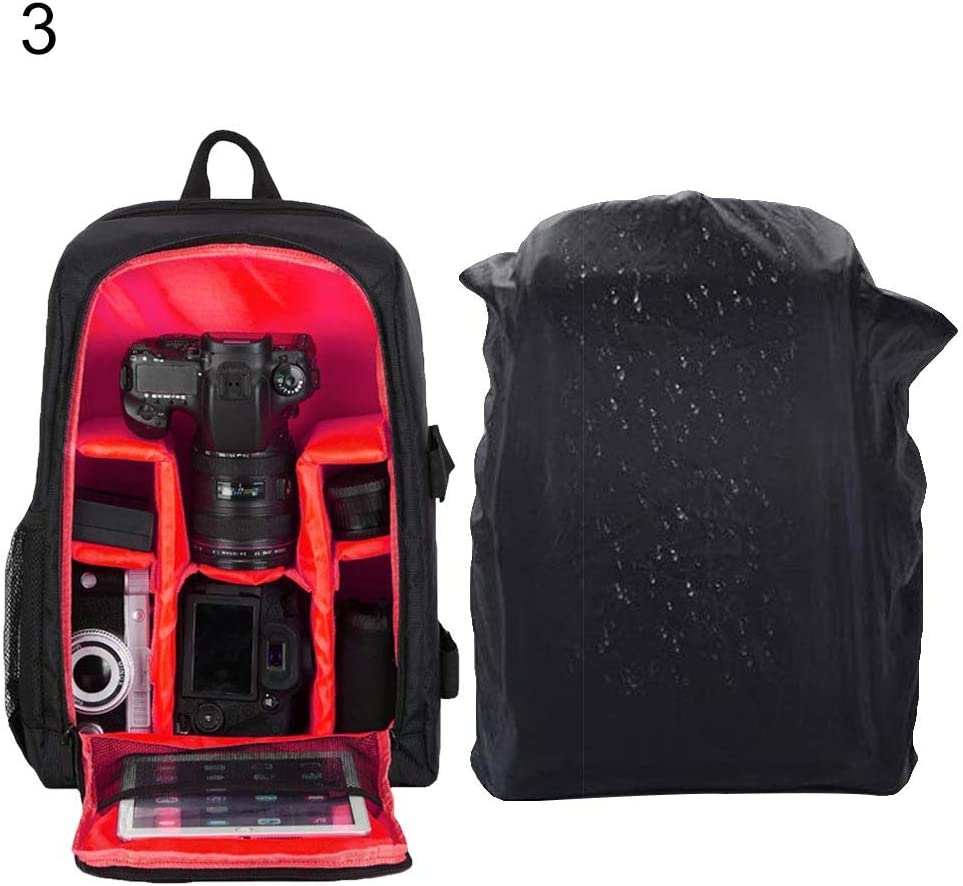 HshDUti Waterproof Outdoor Laptop Bag,Photography Large Capacity Backpack Holder for DSLR Camera Red