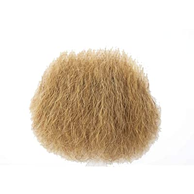 MakupArtist Blond Naturally Shaped Hair Merkin Female Male Pubic Toupee Black: Clothing