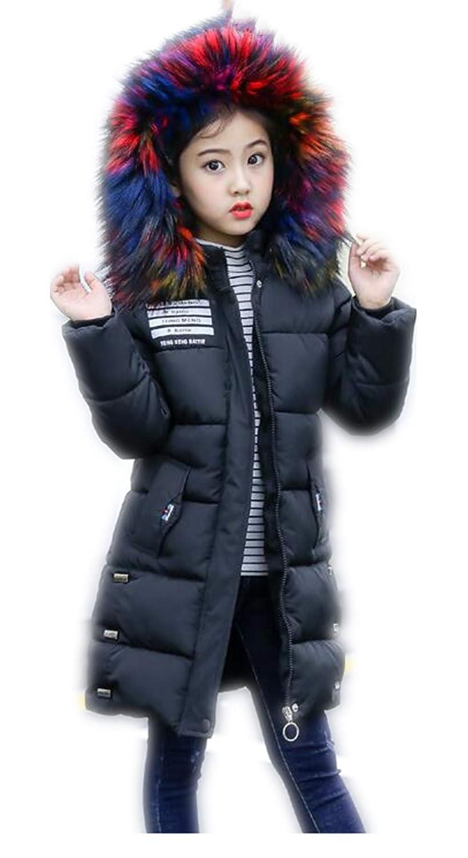 5e8763cb3 MILEEO Girls Coat - 2018 Girls Puffa Coat Jacket Quilted Hooded ...