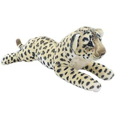 JESONN Stuffed Animals Leopard Toy Plush Cheetah (Brown, 19 Inch): Toys & Games