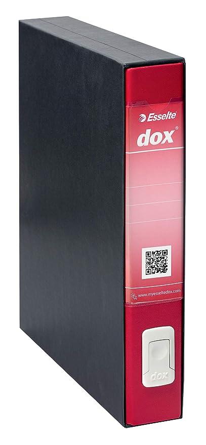 Rexel DOX 4 - Carpeta de cartón, color rojo: Amazon.es: Oficina y ...