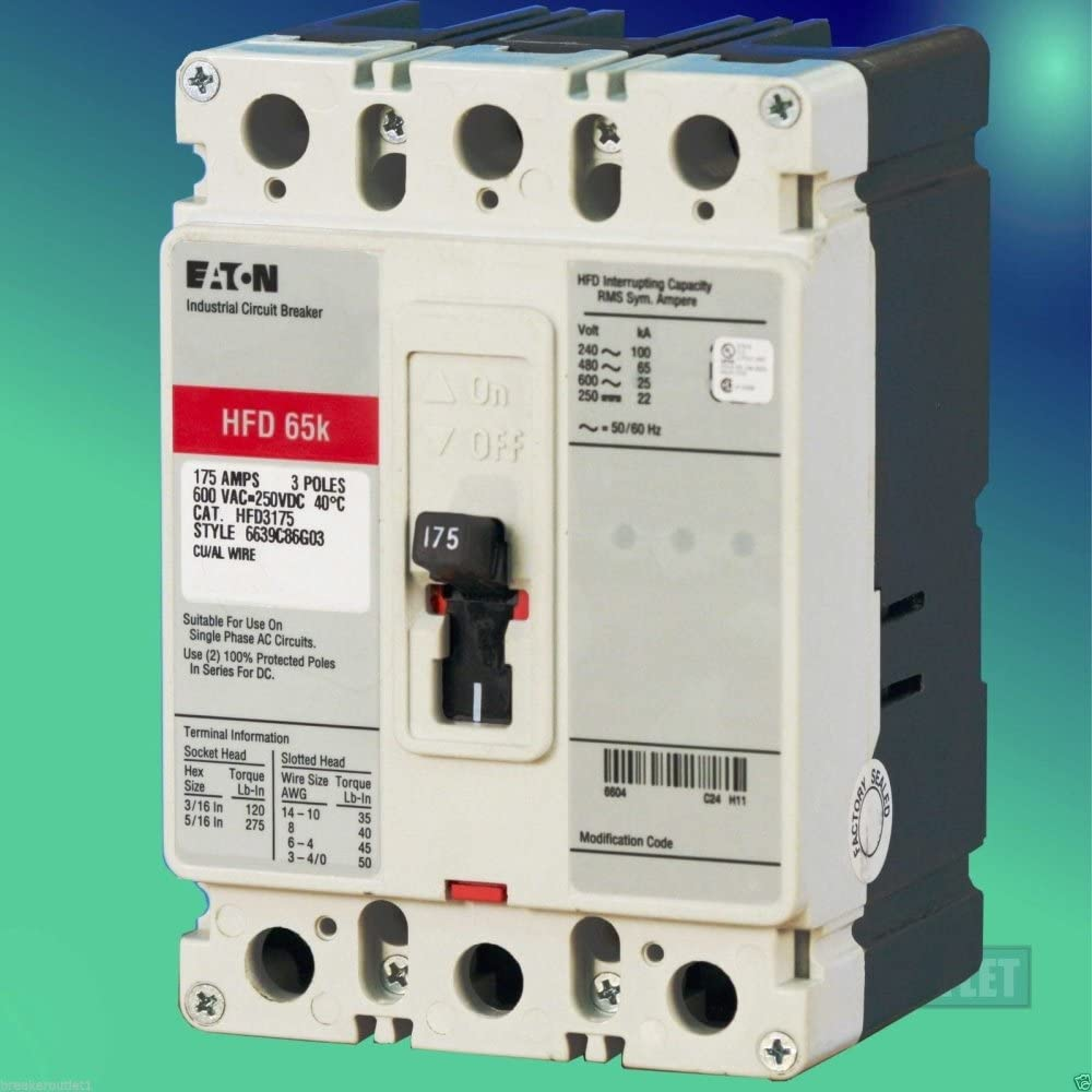 EATON CUTLER HAMMER Industrial Circuit Breaker HFD3060 3 pole 60 type HFD