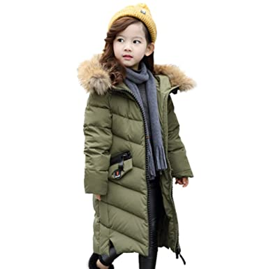Kidslove Mädchen Daunenjacke kinder Winterjacke mit Kaputze