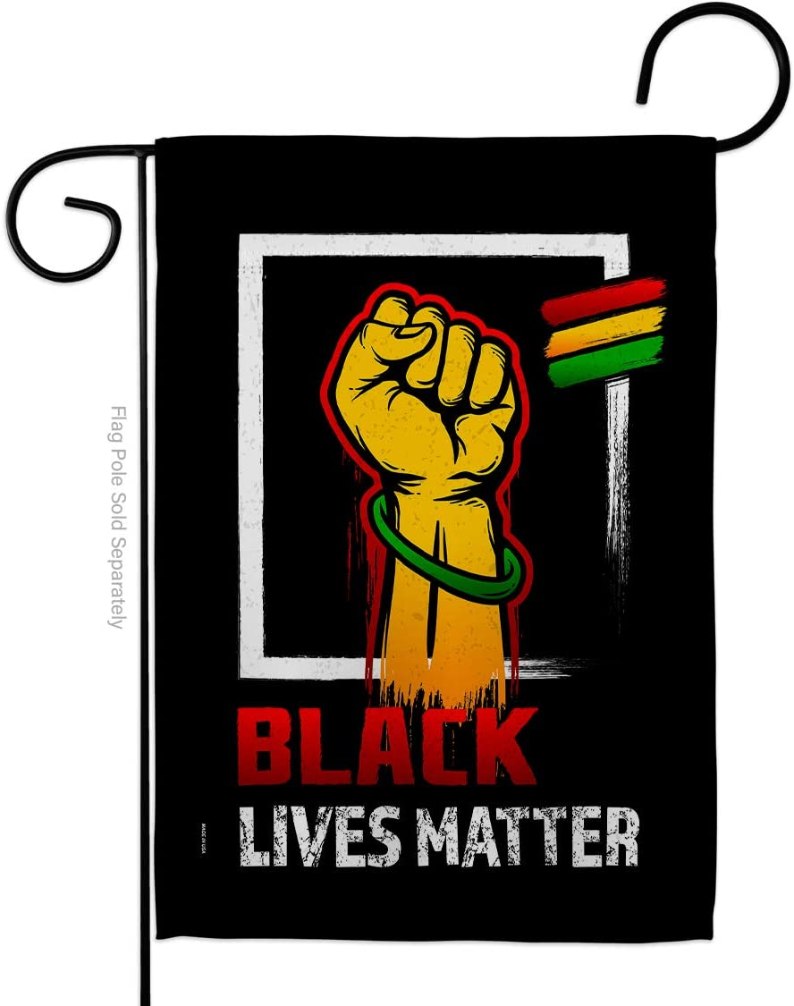 Black Lives Matter Black Matter Anti Racism Garden Flag Support Cause BLM Revolution Movement Equality Social House Decoration Banner Small Yard Gift Double-Sided, 13