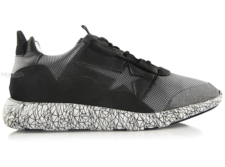 (ゴールデン グース) Golden Goose House Edge Black Sneakers メンズ シューズ靴 スニーカー H29MS672 A1 [並行輸入品] B079YR337W