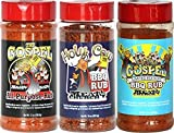 Meat Church Holy Rub & Seasoning Sampler (Variety Pack of 3 w/ one each of The Holy Gospel, Holy Cow & The Gospel)