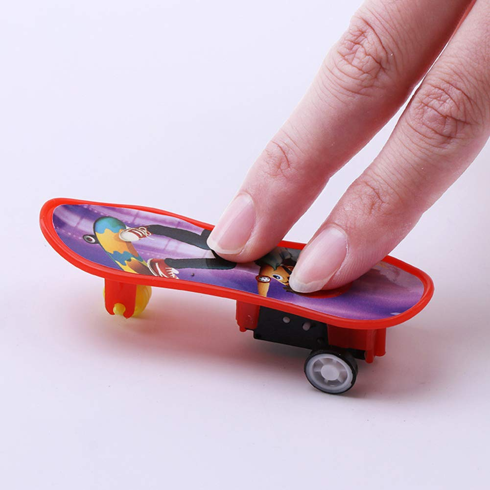Oce180anYLV Berufsfinger-Skateboard-pä dagogisches Kindergeschenk Mini Plastic Board Toy Random Color