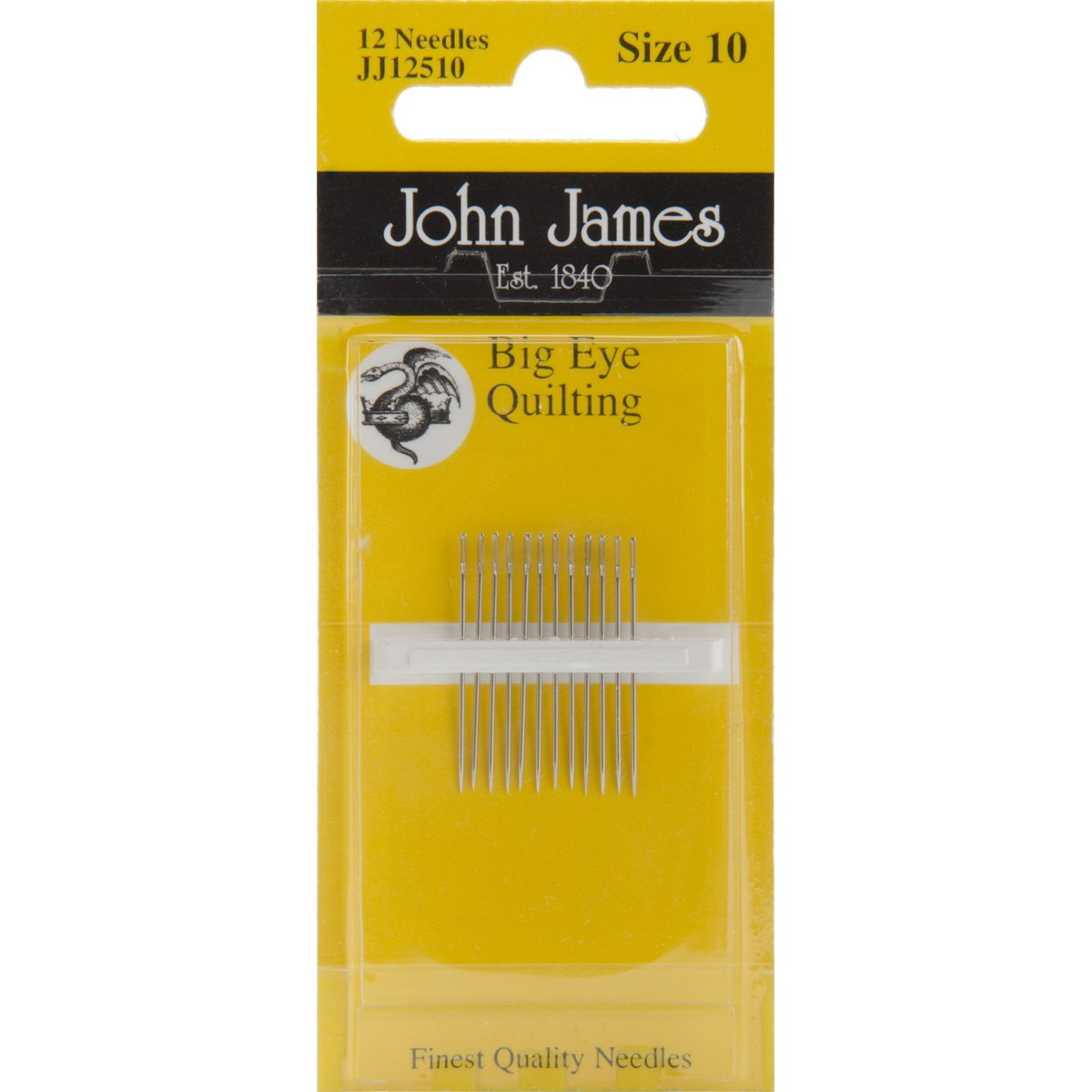 Big Eye Quilting Hand Needles-Size 10 12/Pkg Colonial Needle JJ125-10
