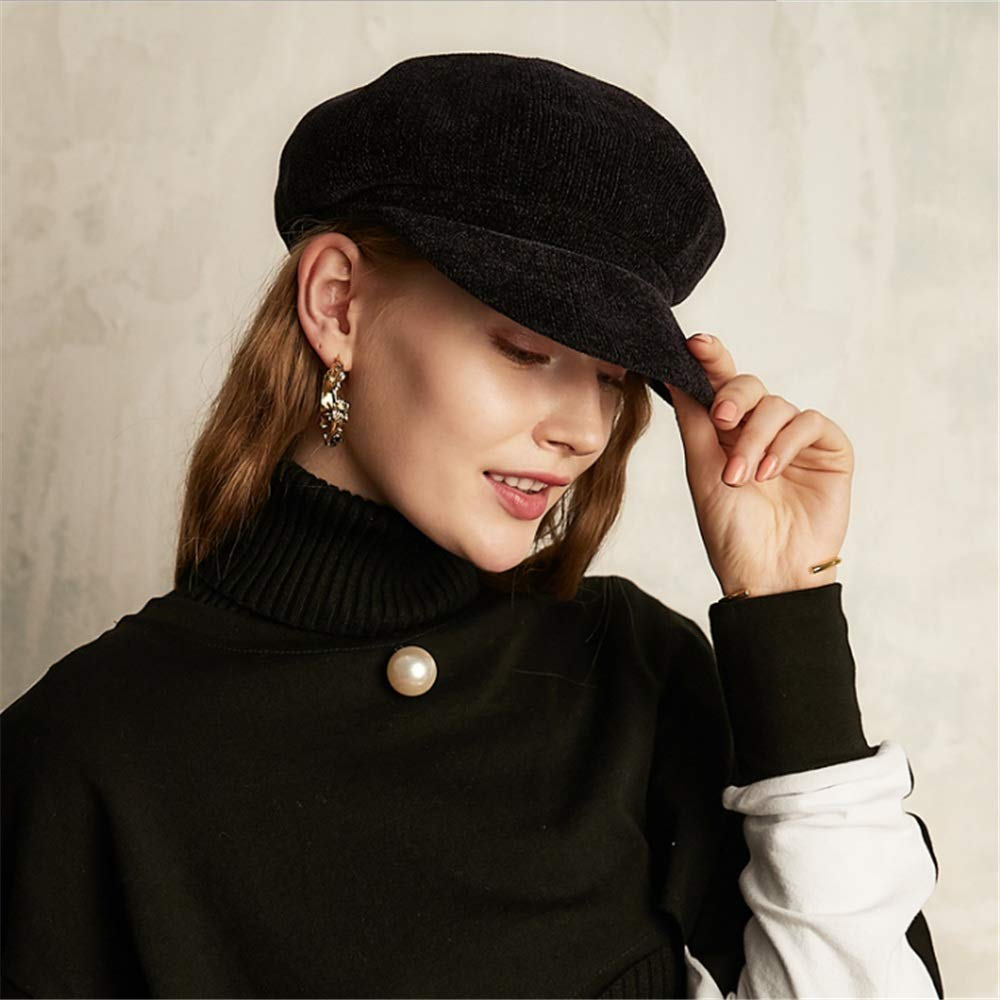Aihifly Casual Ladys Winter Cap Cloche Fedora Hat For Ladies Church Bowler Hats Derby Party Fashion Winter Women Soft Classic Vintage 1920s 1950s Style Color : Camel