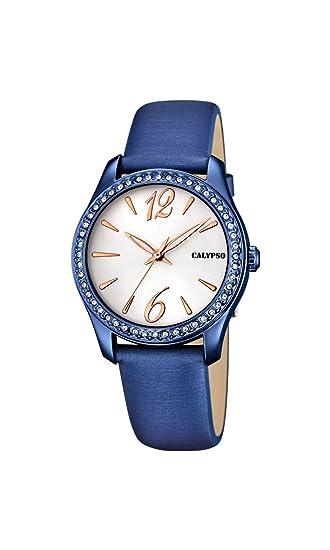 Calypso Reloj Análogo clásico para Mujer de Cuarzo con Correa en Cuero K5717/3: Calypso: Amazon.es: Relojes