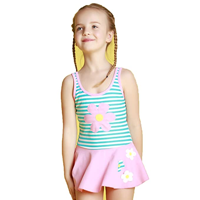 16cafafa6bfd6 Girls Swimwear Junior Skirted Bathing Suit One Piece Swimsuit Bathers  Skirt: Amazon.ca: Clothing & Accessories