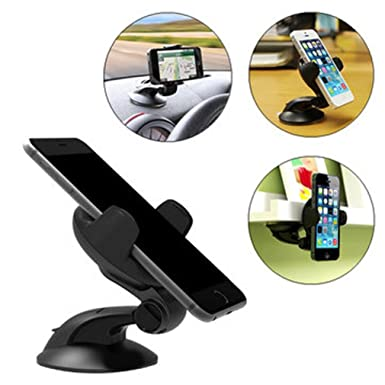 Amazon.com: Dolloress Universal 360° Rotation Suction Cup Table Bracket Car Mount Phone Holder Support for Phone Under 5.5 inches: Cell Phones & Accessories