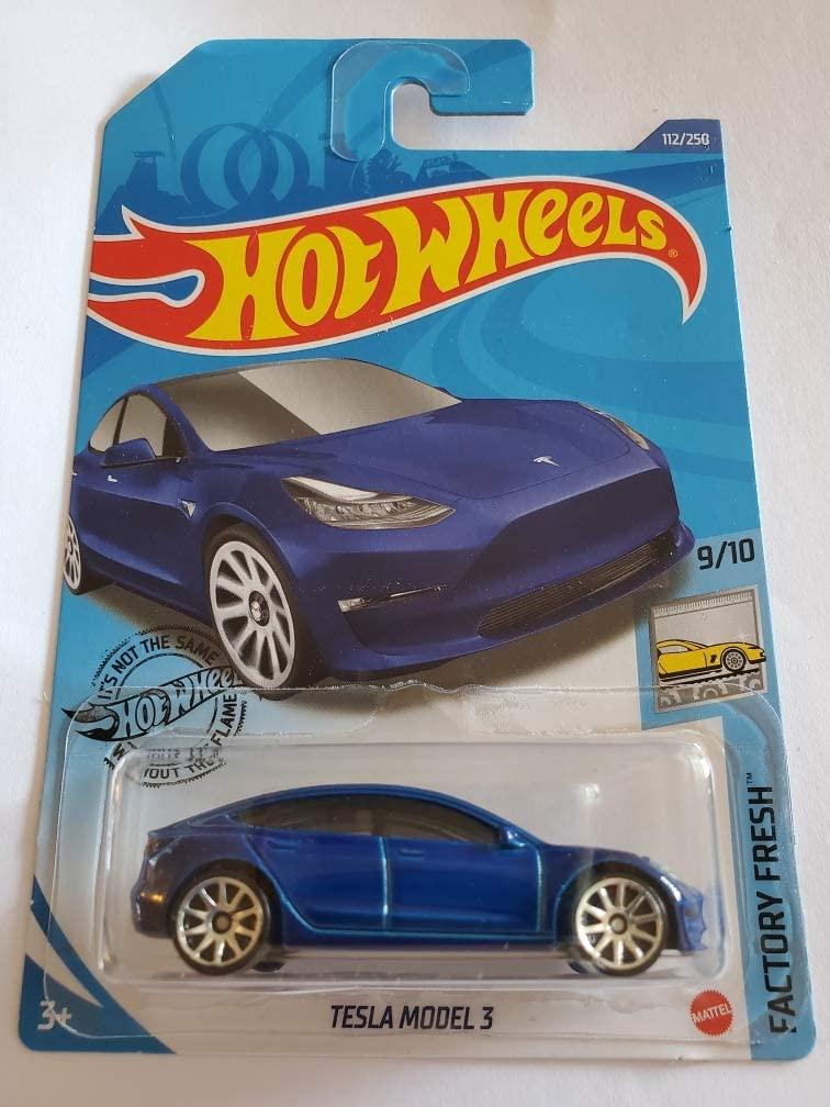 Blue 112//250 Hot Wheels 2020 Factory Fresh Tesla Model 3