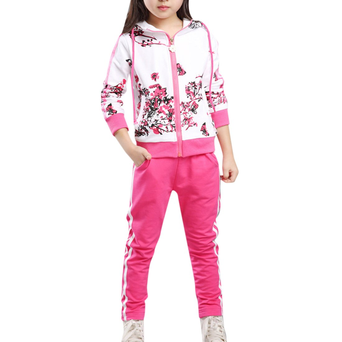 Lopetve Tuta da ginnastica - ragazza Giacca sportiva & pantaloni Fiori