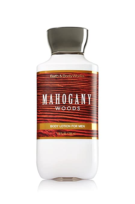 Bath and Body Works Mens Body Lotion Mahogany Woods 8 Ounce Full Size
