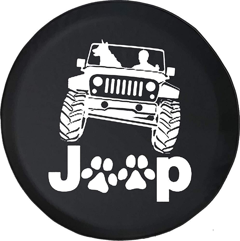 14//15//16//17in Copriruota di scorta Copriruota di scorta Stampe della Zampa Zampe Cane Passeggero Cane Adatto a Accessori Wrangler, SUV e RV Y.Z.L