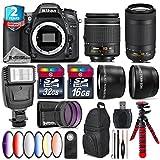Holiday Saving Bundle for D7100 DSLR Camera + AF-P 70-300mm VR Lens + AF-P 18-55mm + 6PC Graduated Color Filter Set + 2yr Extended Warranty + 32GB Class 10 Memory Card - International Version