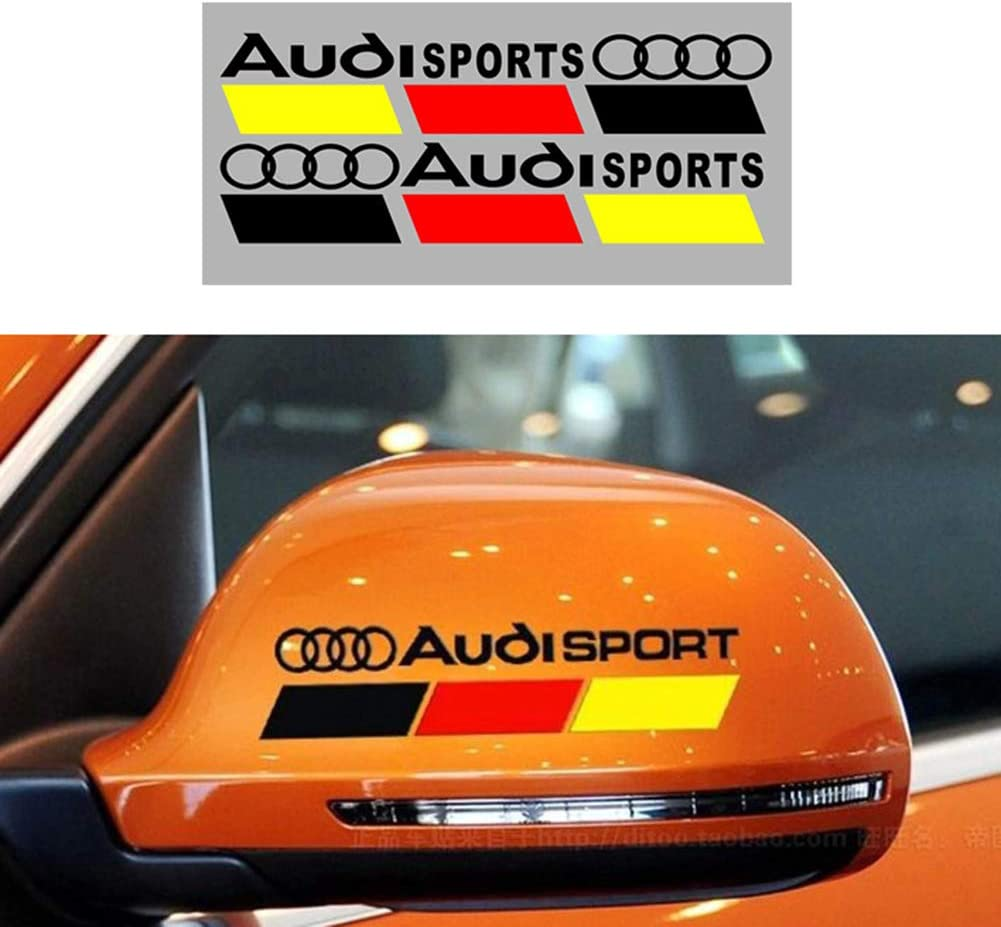 White MAXMILO New Car Sports Styling Racing Decoration RS Sport Door Handle Stickers Front Decal Styling For Audi A4 B6 B8 B7 B5 A3 8P 8L 8V A6 C5 C7 A5 Q7 Q5 Q3 A1 A8 S3 S4 S line