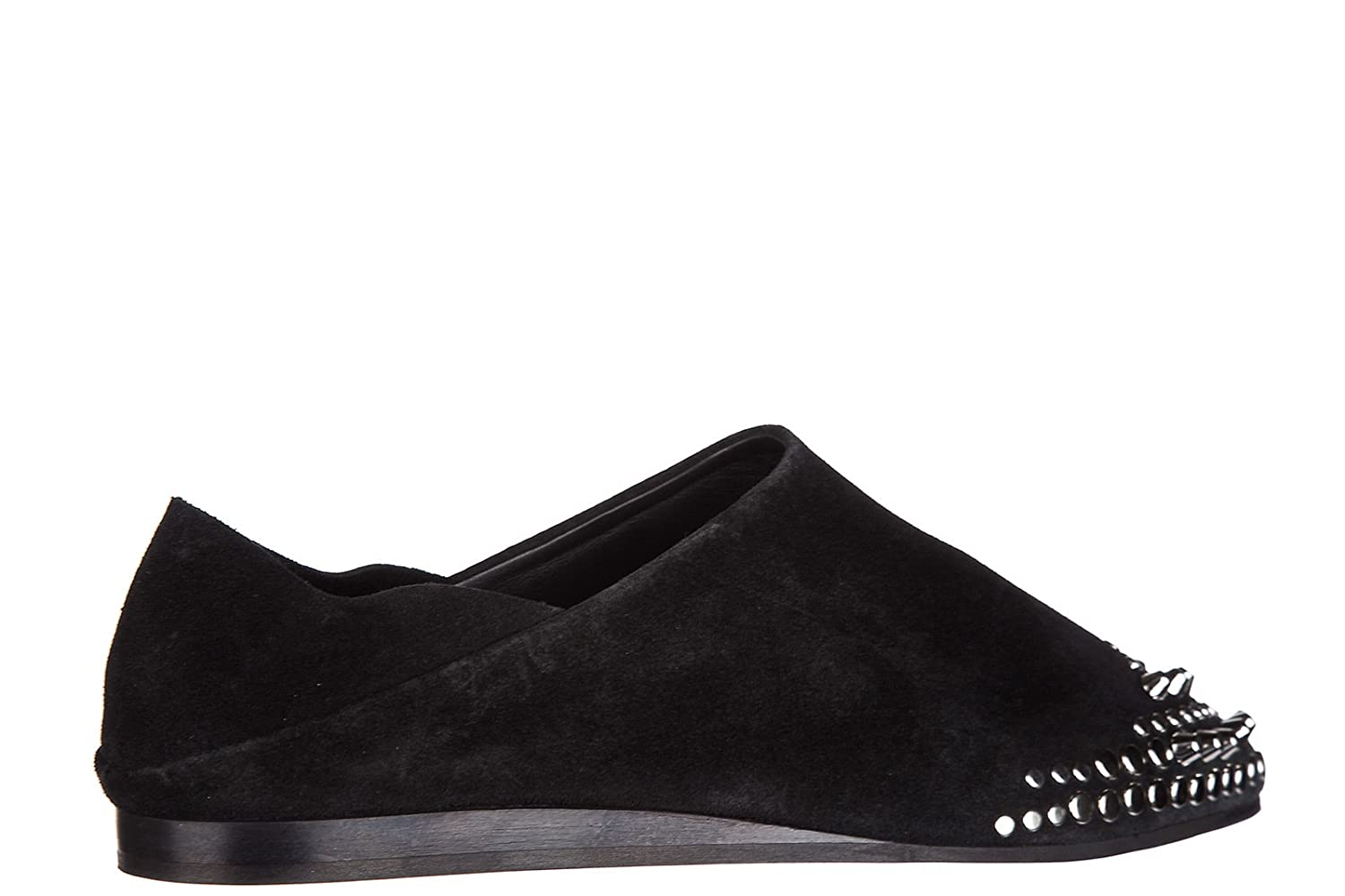 dfd0189b6a McQ Alexander McQueen Women s Suede Ballet Flats Ballerinas Liberty Fold  Black UK Size 7 447265 R2407 1000  Amazon.co.uk  Shoes   Bags