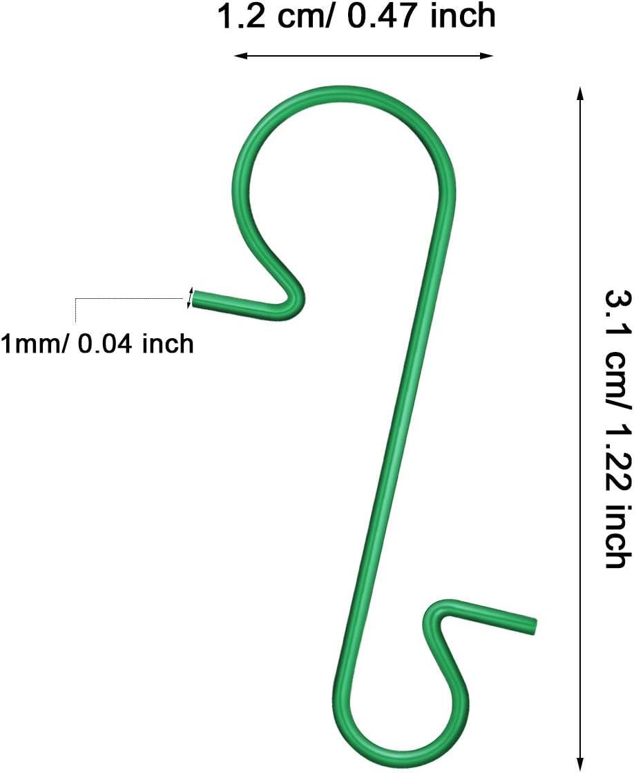 Tatuo Crochets dOrnement de No/ël Cintres dOrnement avec Bo/îte de Rangement pour D/écoration darbre de No/ël Argent, 201