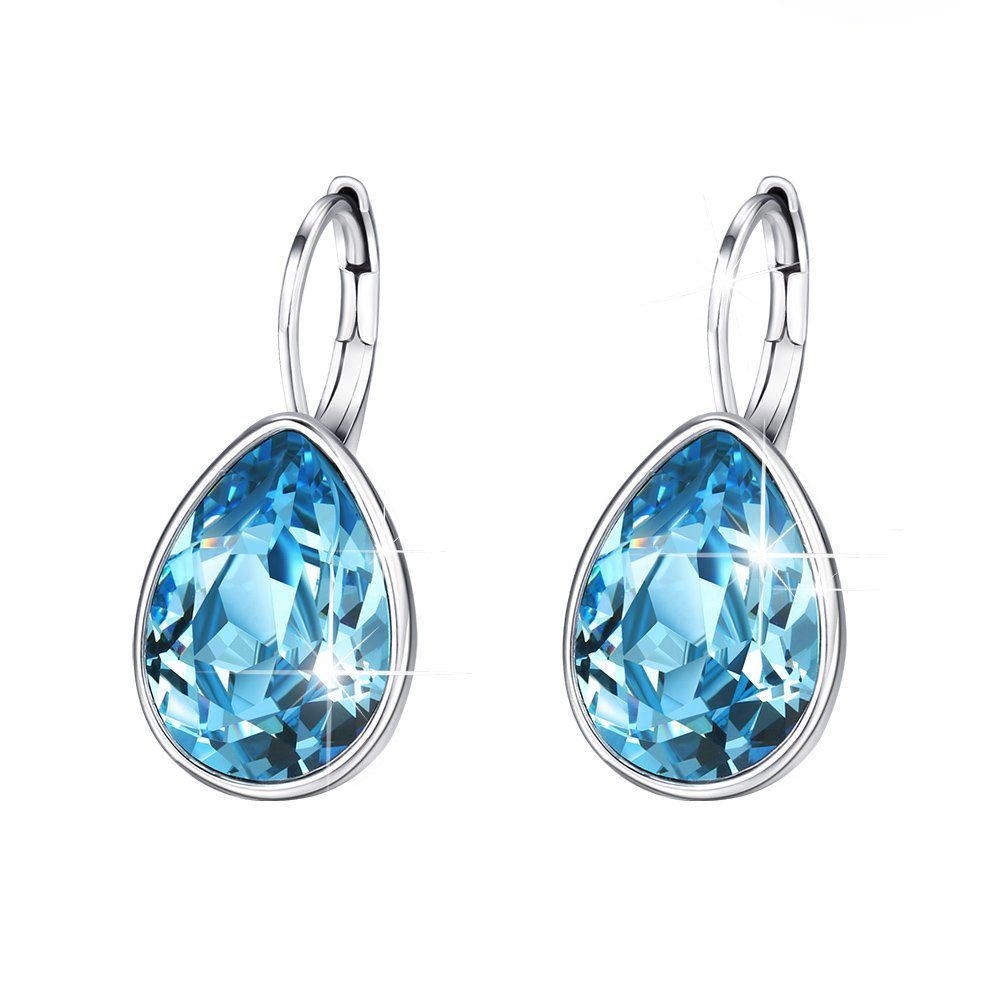 Xuping Sparkle Jewelry Halloween Hot Beauty Elegant Water Drop Crystals from Swarovski Luxury Decorate Hoop Earrings Prime Day Christmas Women Girl Gifts M12 product image