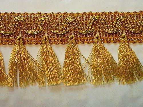 16,40m Fransen-Borte 4,5cm breit Farbe: Lurex-Gold TSL-AA360-17-Gold