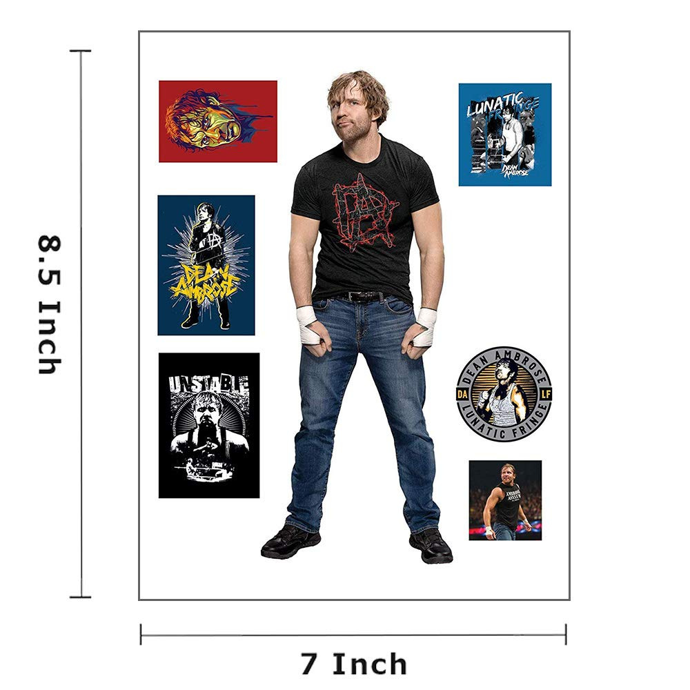 Randy Orton Total 27 Stickers Undertaker Myesha Toys WWE Small Size Cut Out Stickers Pack of 4 Sticker Sheet Dean Ambrose Phenomenal A J Stykes Stickers