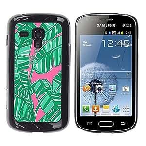 For Samsung Galaxy S Duos / S7562 Case , Leaves Jungle Forest Nature - Diseño Patrón Teléfono Caso Cubierta Case Bumper Duro Protección Case Cover Funda