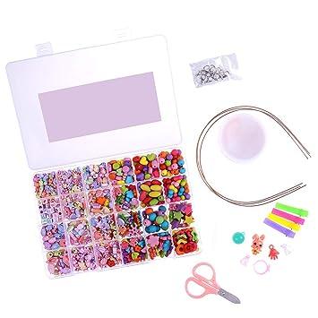 0d1d9d786aad ujuuu Juego de perlas para joyería hacer niños adultos niños Craft ...