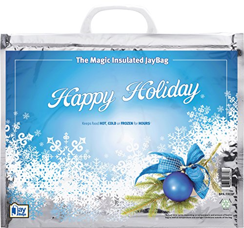 Pack of 10 Holiday Thermal Bag Large / Keep Items Hot or Cold and Frozen for Hours At a Time - Like Baker Ted Designers