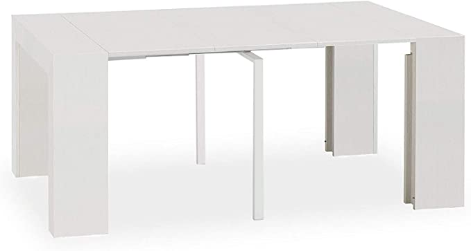 Party Fresno blanco – Consola Extensible 100% italiana, 90 x 45 cm ...